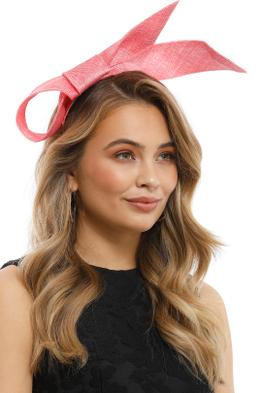 Olga Berg - Danica Sinamay Bow Fascinator - Coral - Product
