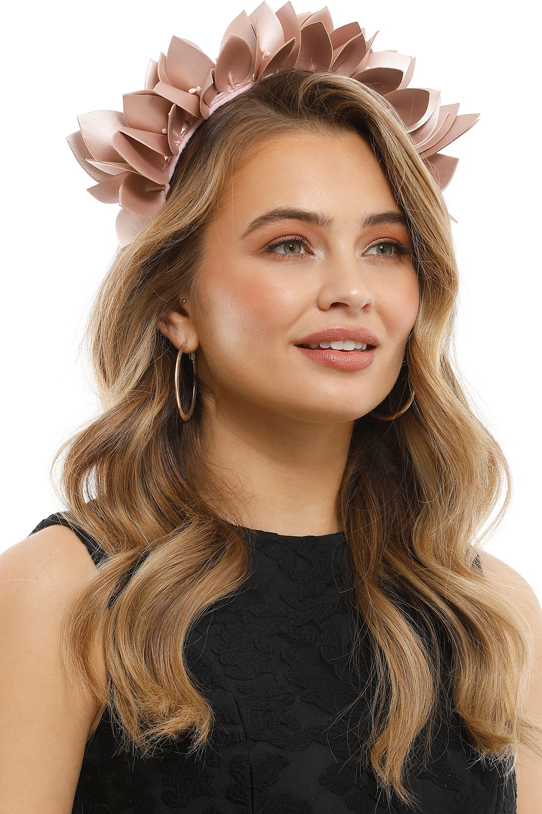 Olga Berg - Jess Floral Headband - Blush - Side