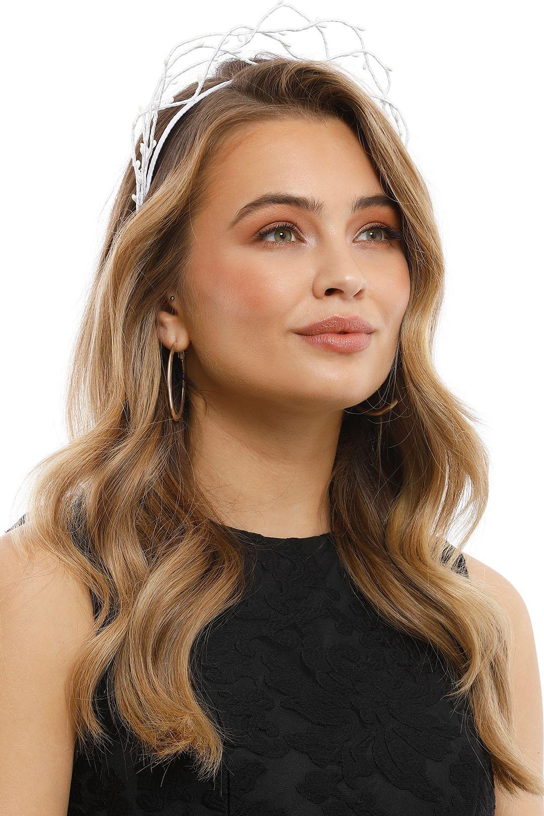 Olga Berg - Leia Crown - White - Product