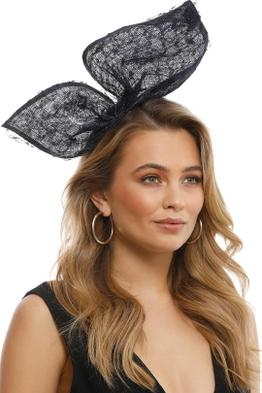 Olga Berg - Monique Lace Bow - Navy - Model
