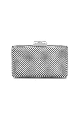 Olga Berg - Natasha Ball Mesh Clutch - Silver - Product