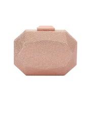 Olga Berg - Telesa Crystal Facet Clutch - Rose Gold - Product