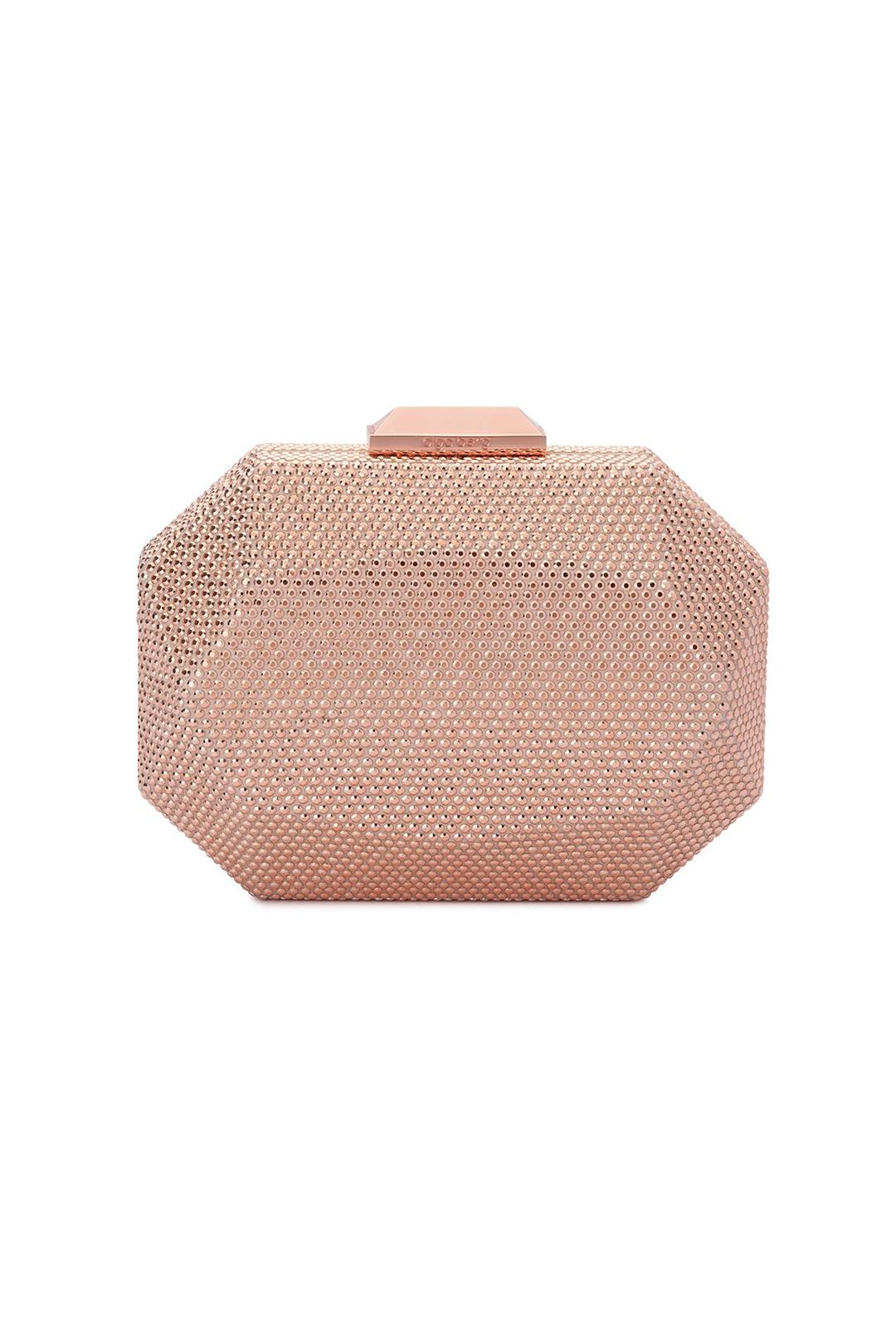Olga Berg - Telesa Crystal Facet Clutch - Rose Gold - Product