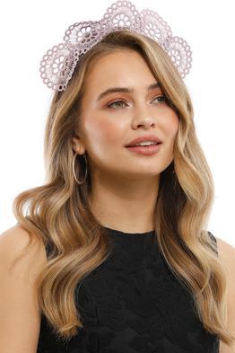 Olga Berg - Claire Lace Headband - Lavender