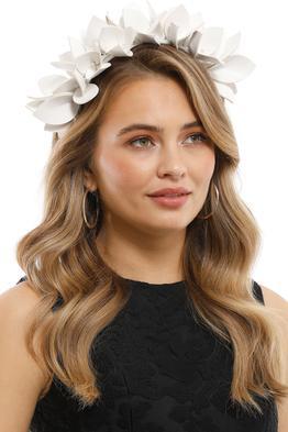 Olga Berg - Jess Floral Headband - White - Side