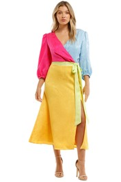 Olivia Rubin  Paloma Dress Pink Blue Yellow