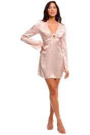 Ownley Bianco Long Sleeve Floral Mini Dress
