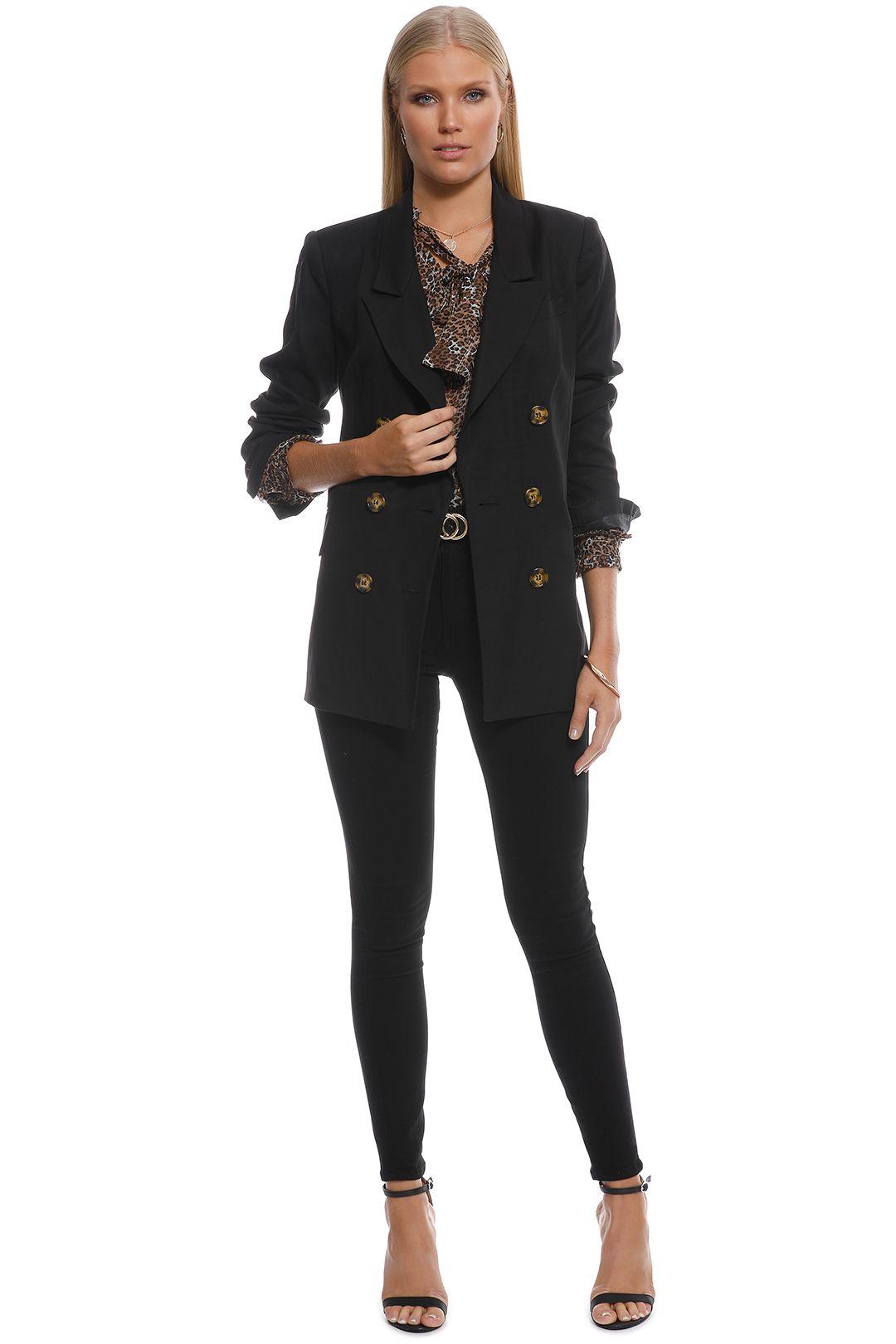 Oxford - Sienna DB Jacket - Black - Front