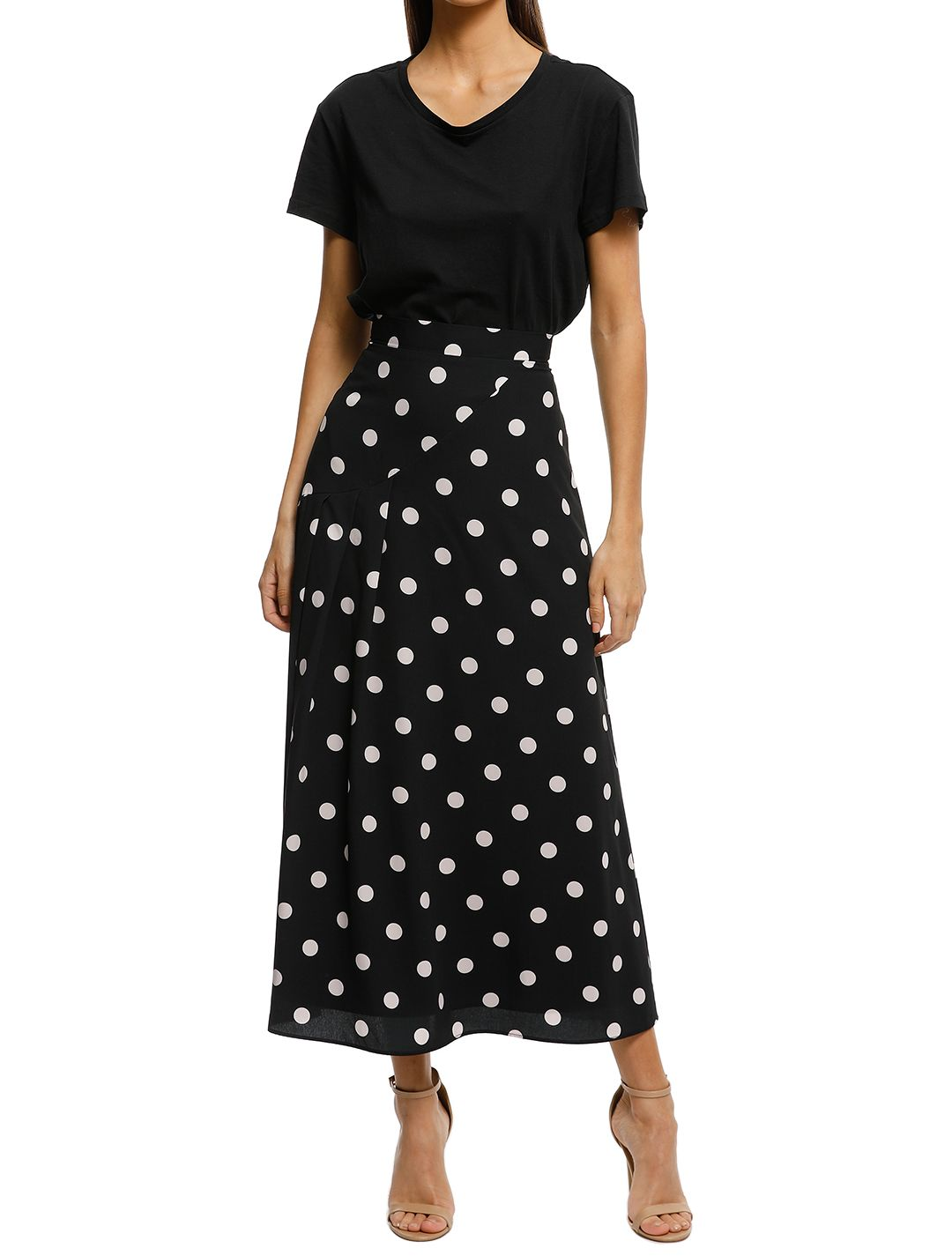 Pasduchas-Abbey-Skirt-Black-White-Front