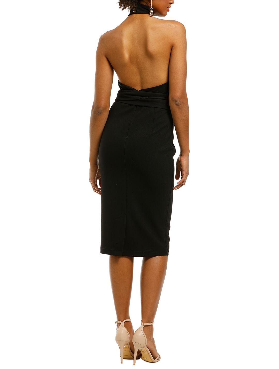 Pasduchas-Aurelia-High-Midi-Dress-Black-Back