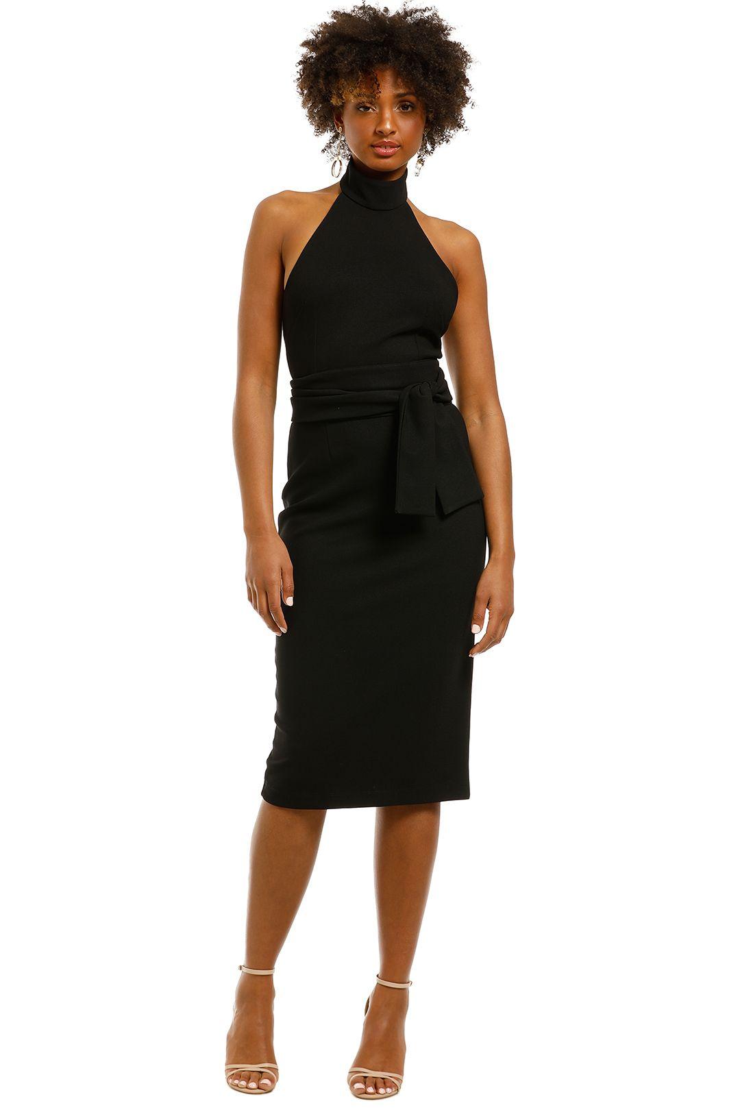 Pasduchas-Aurelia-High-Midi-Dress-Black-Front