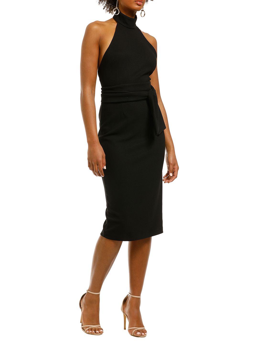 Pasduchas-Aurelia-High-Midi-Dress-Black-Side
