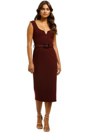 Pasduchas-Charmed-Scoop-Midi-Dress-Wine-Front