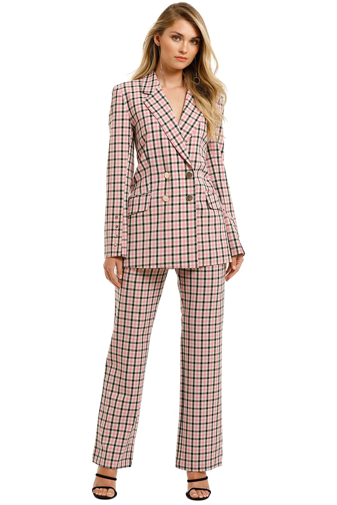 Pasduchas-Checker-Blazer-and-Pant-Suit-Pink-Check-Front