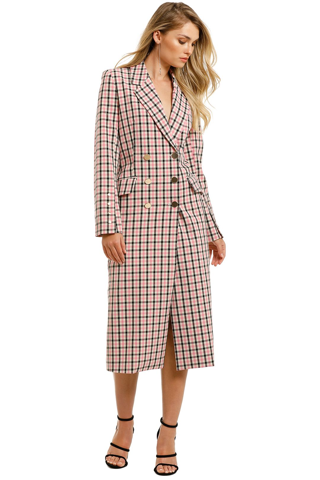 Pasduchas-Checker-Coat-Pink-Check-Front