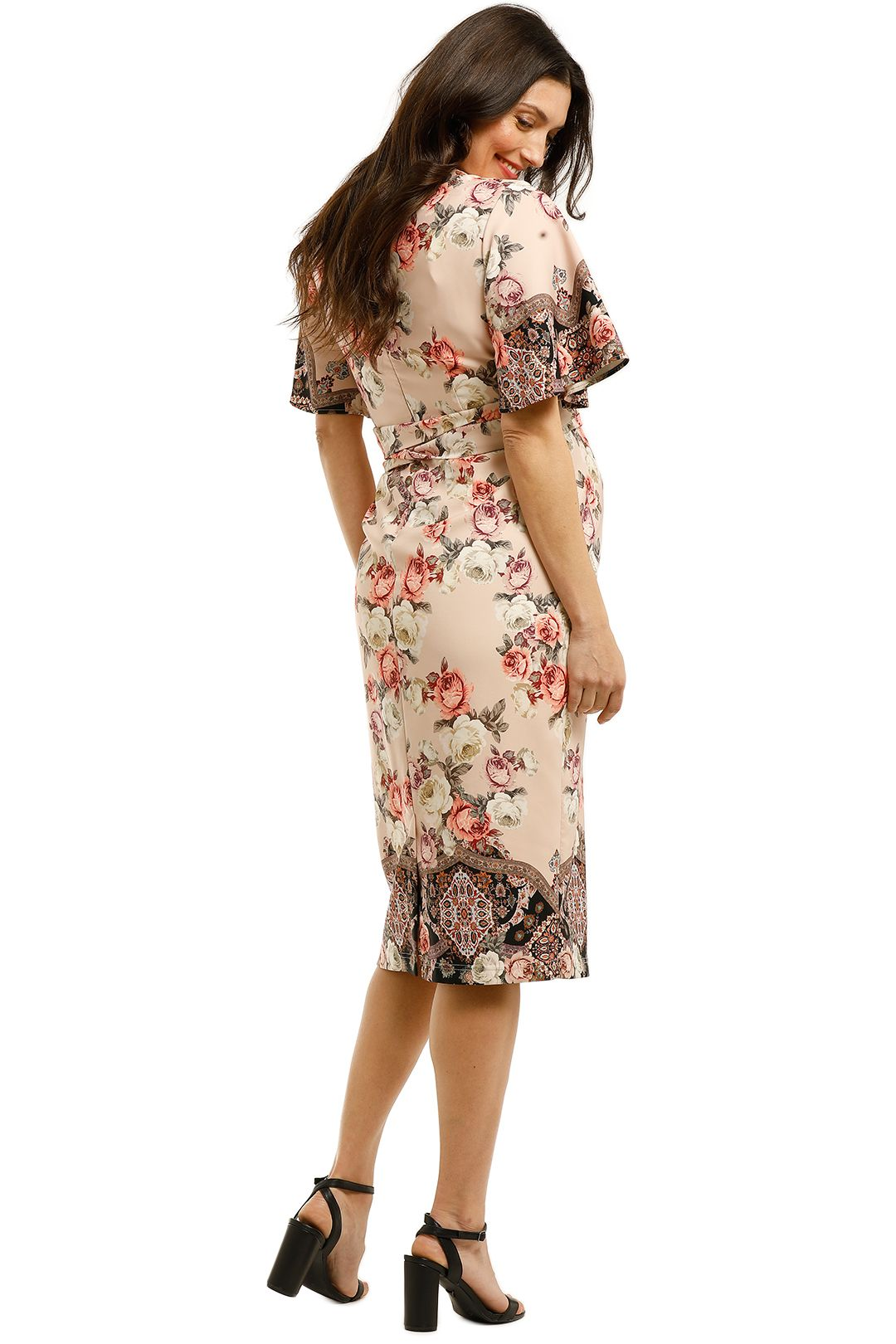 Pasduchas-Chichi-Sleeve-Midi-Dress-Floral-Blush-Back