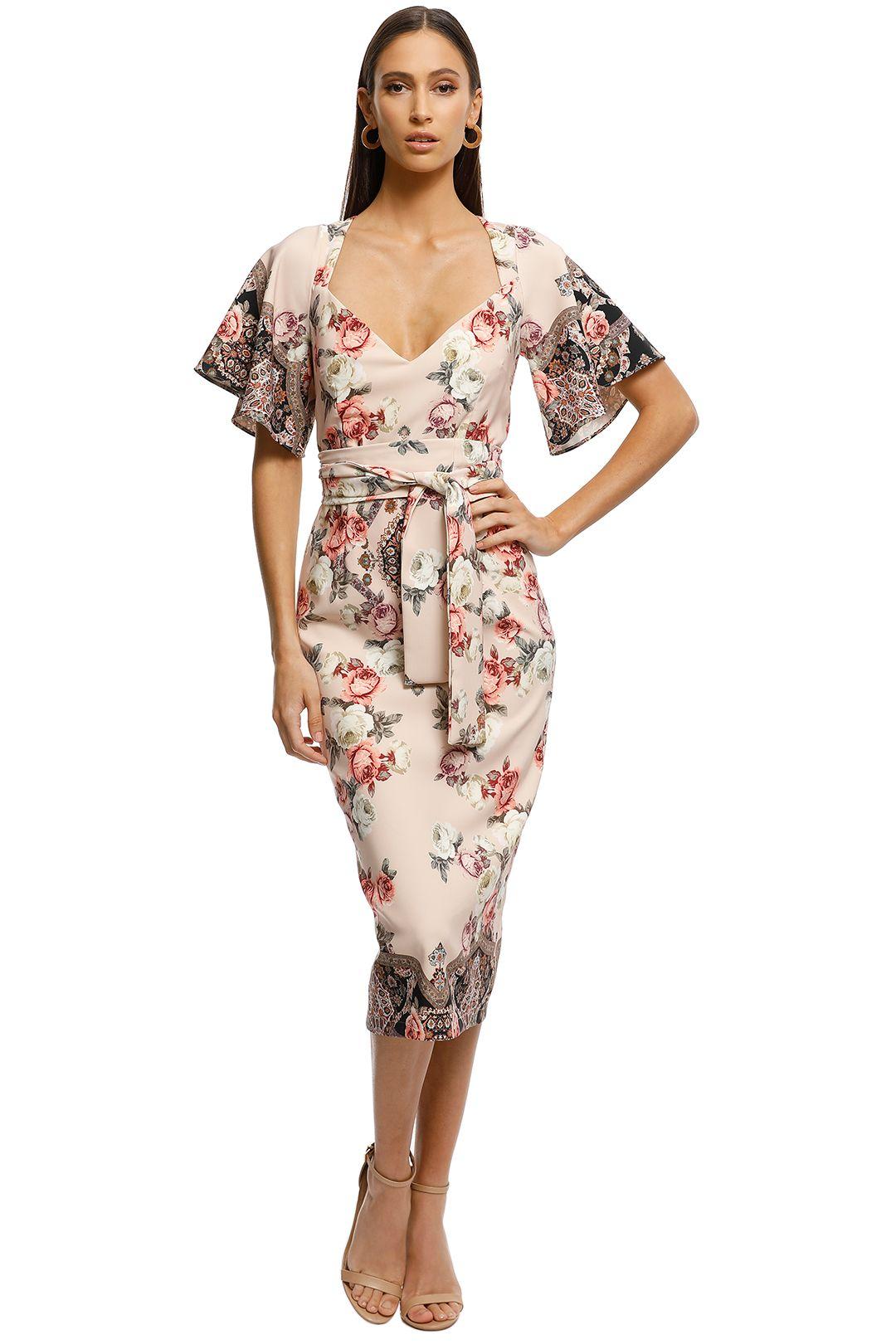 Pasduchas-Chichi-Sleeve-Midi-Dress-Floral-Blush-Front