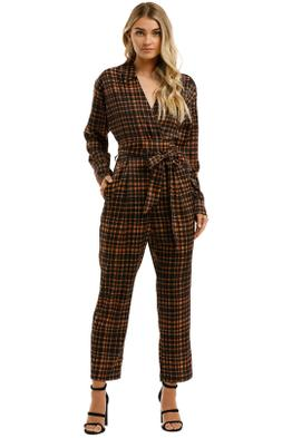 Pasduchas-Jackson-Pantsuit-Brown-Plaid-Front