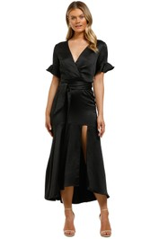 Pasduchas-Oasis-Split-Midi-Dress-Black-Front