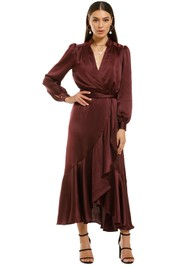 Pasduchas-Perry-Midi-Dress-Wine-Front