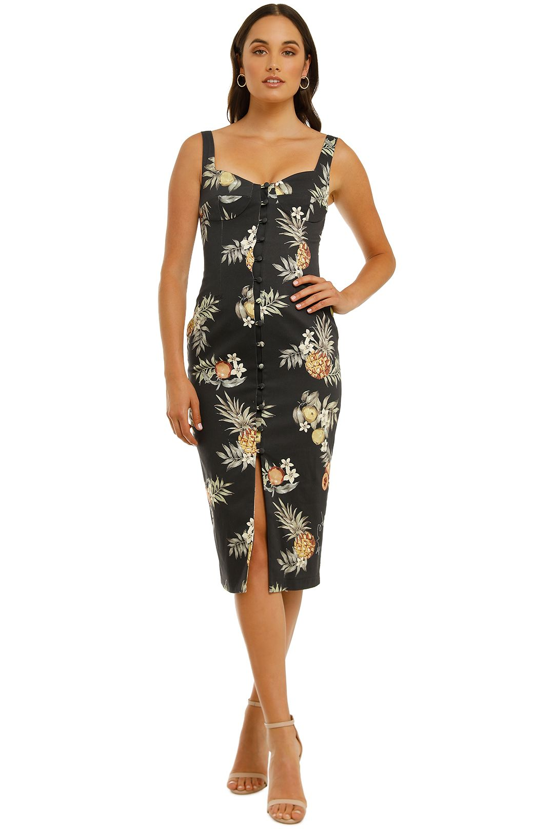 Pasduchas-Pinacolada-Midi-Dress-Black-Front