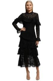 Pasduchas-Scarborough Midi Dress-Black-Front