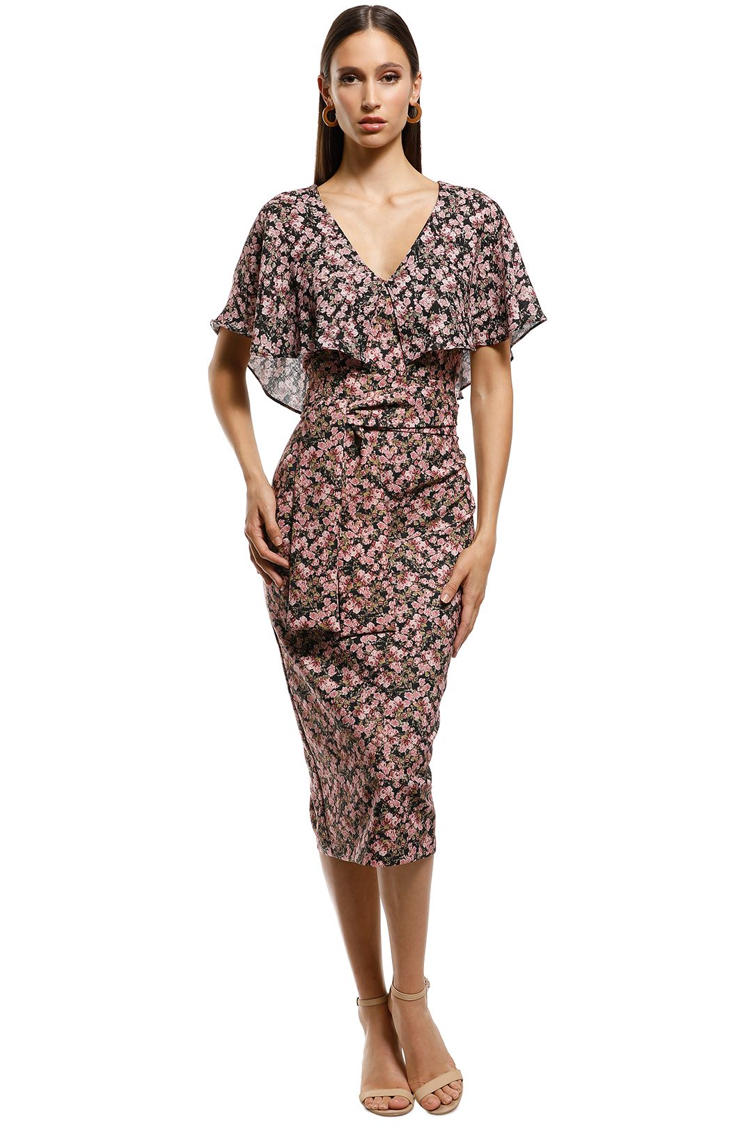 Pasduchas-Virginia Cape Midi-Blush Floral-Front