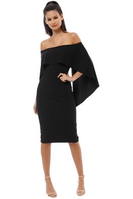 Pasduchas - Composure Midi Dress - Black - Front