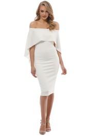 Pasduchas - Composure Midi Dress - Ivory - Front