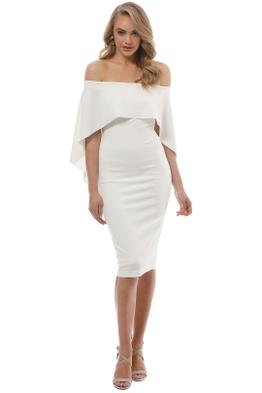 Pasduchas - Composure Midi Dress - Ivory - Front