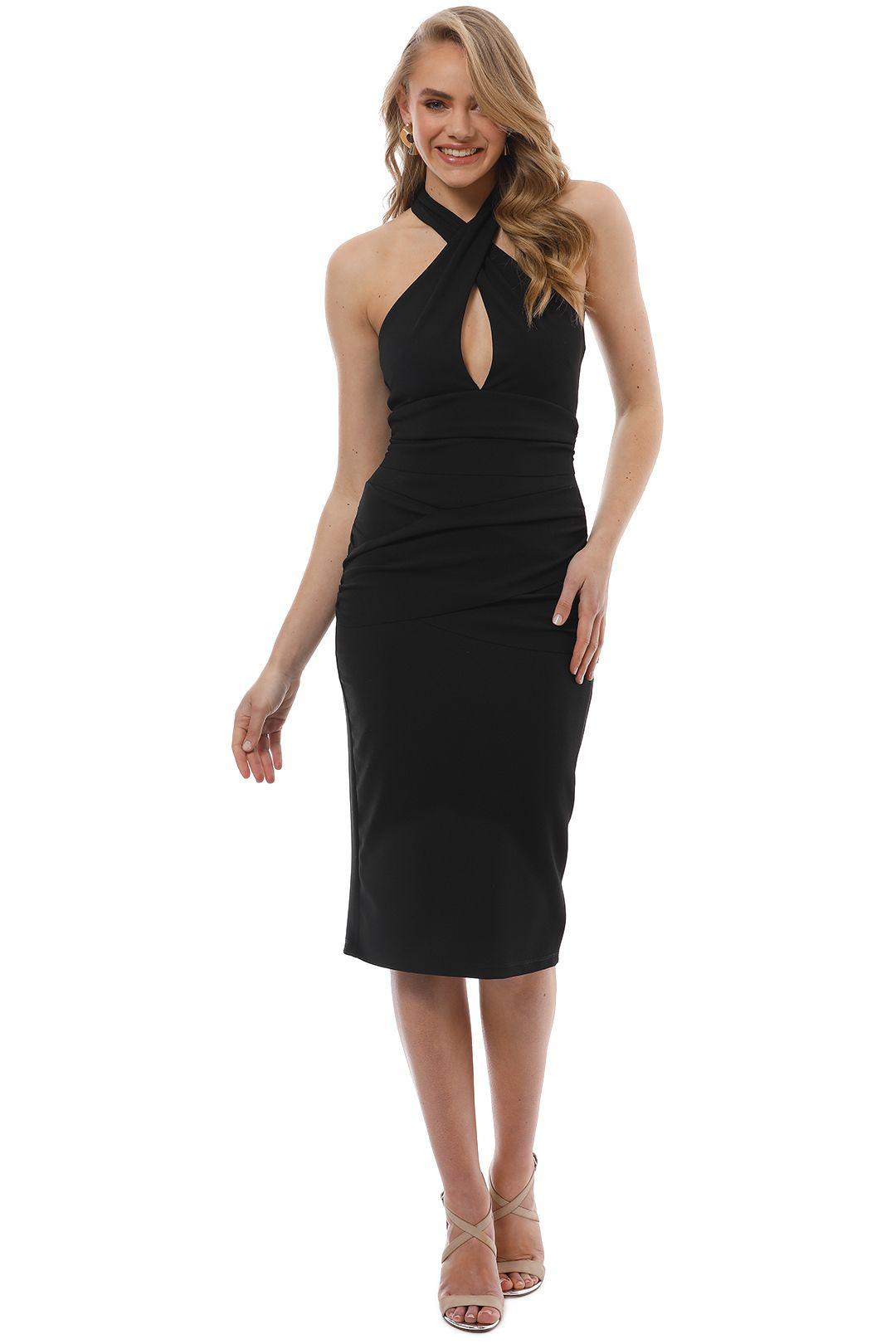 Pasduchas - Girl Crush Midi Dress -  Black - Front