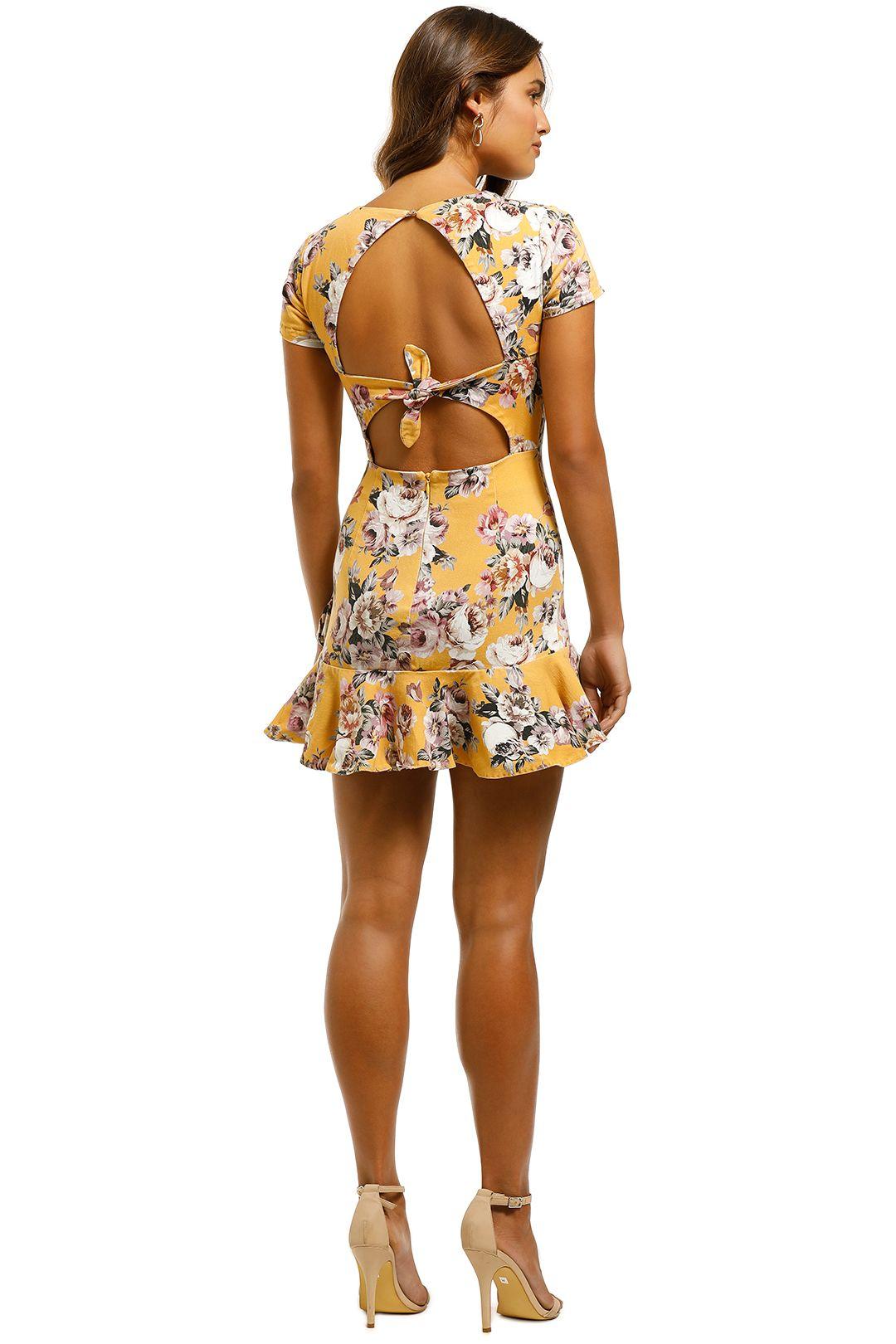 Pasduchas - Havana Flip Dress - Marigold - Back