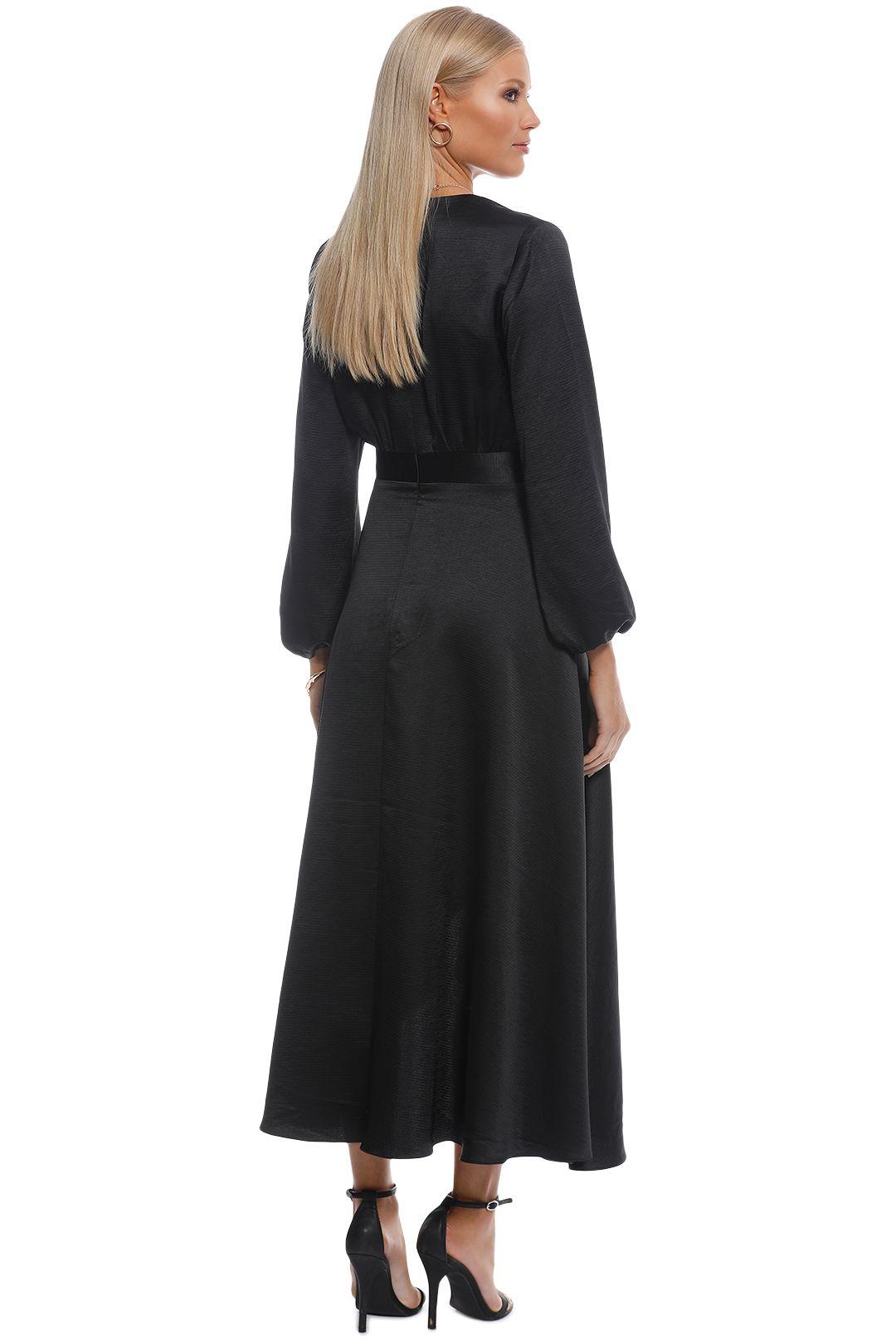 Pasduchas - Mercury Midi Dress - Black - Back