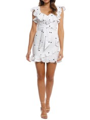Pasduchas - Meridian Ruffle Dress - Ivory - Front