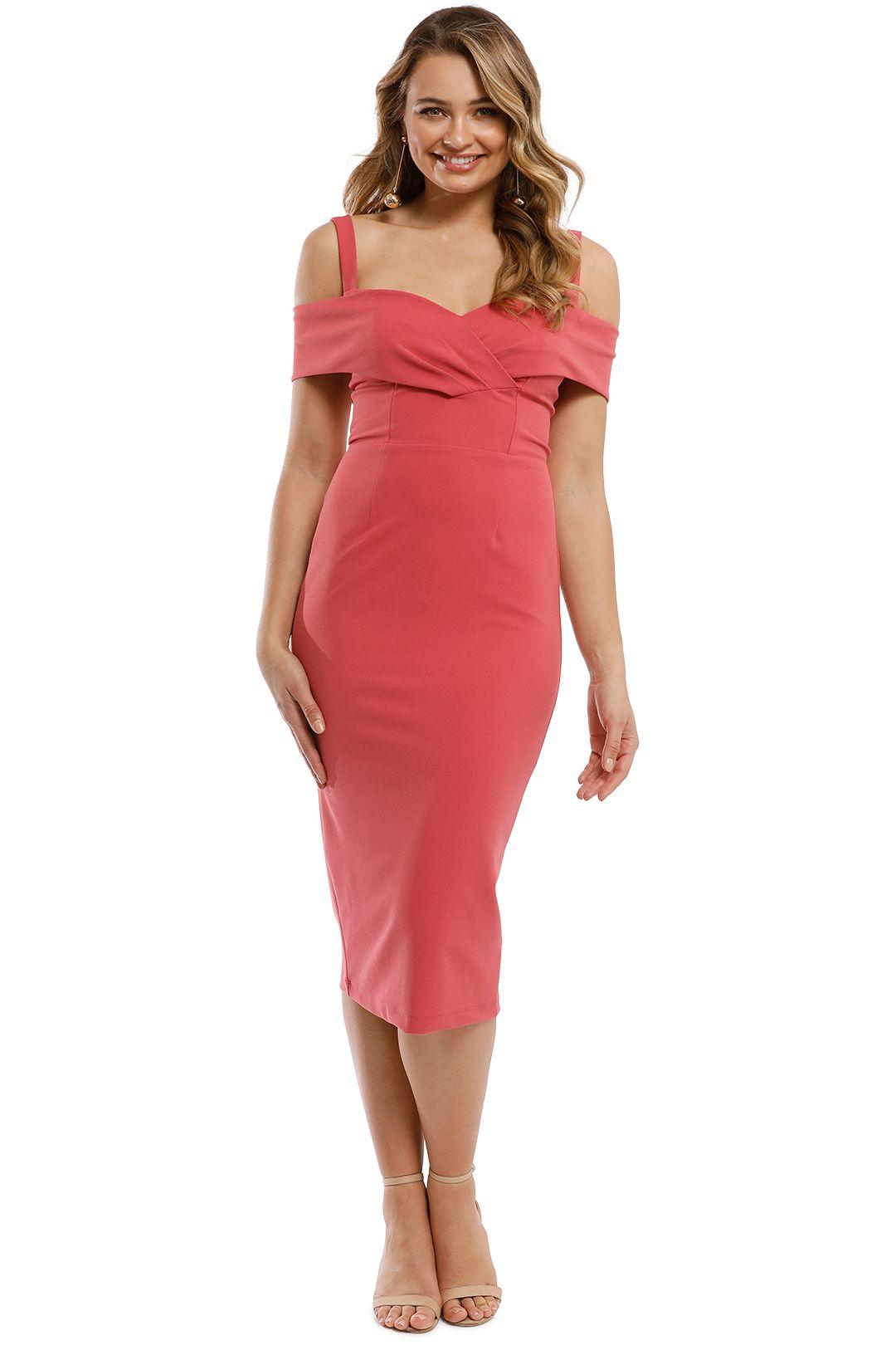 Pasduchas - Riviera Midi Dress - Watermelon - Front