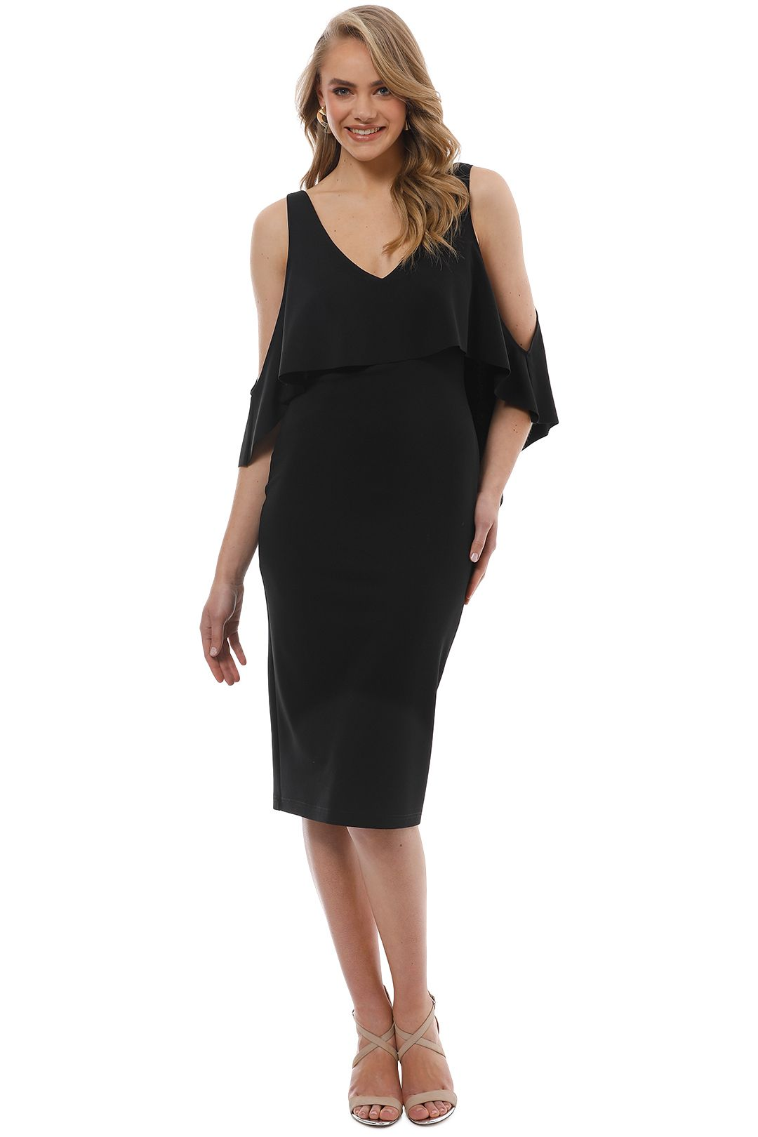 Pasduchas - Stella Midi Dress - Black - Front