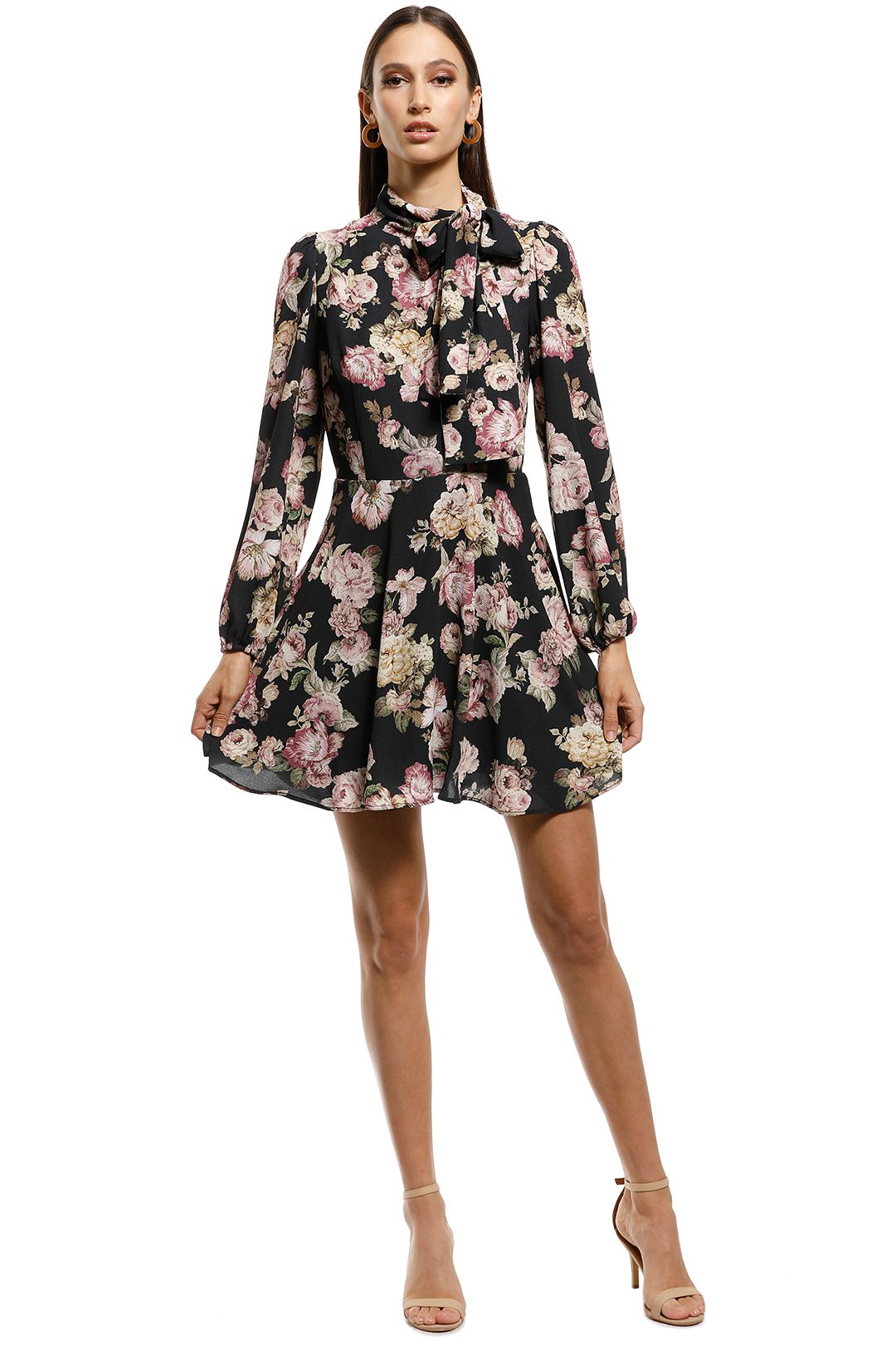 Pasduchas - Sundancer Dress - Black Floral - Front