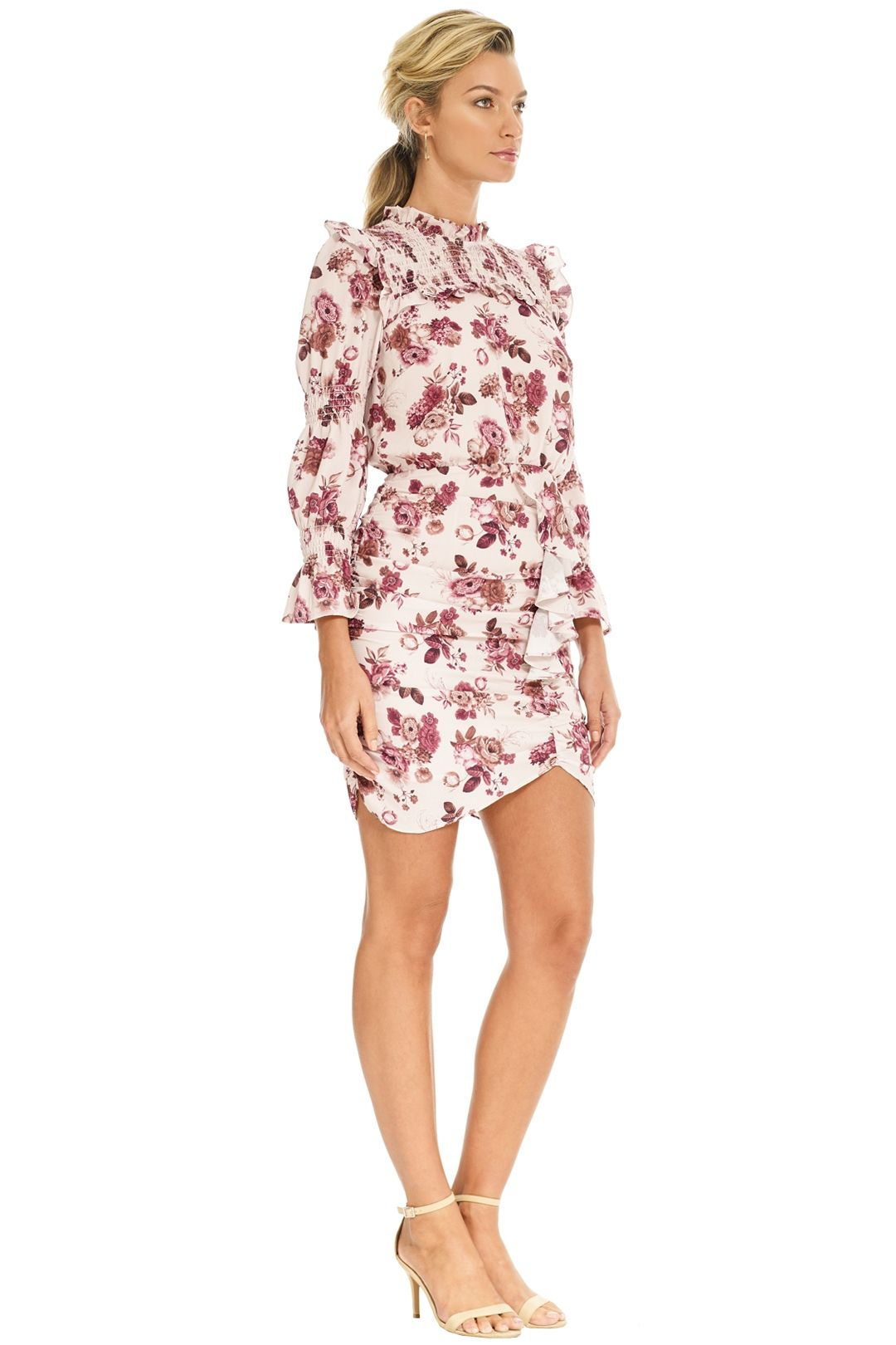 Pasduchas - Valencia Dress - Blush Floral - Side