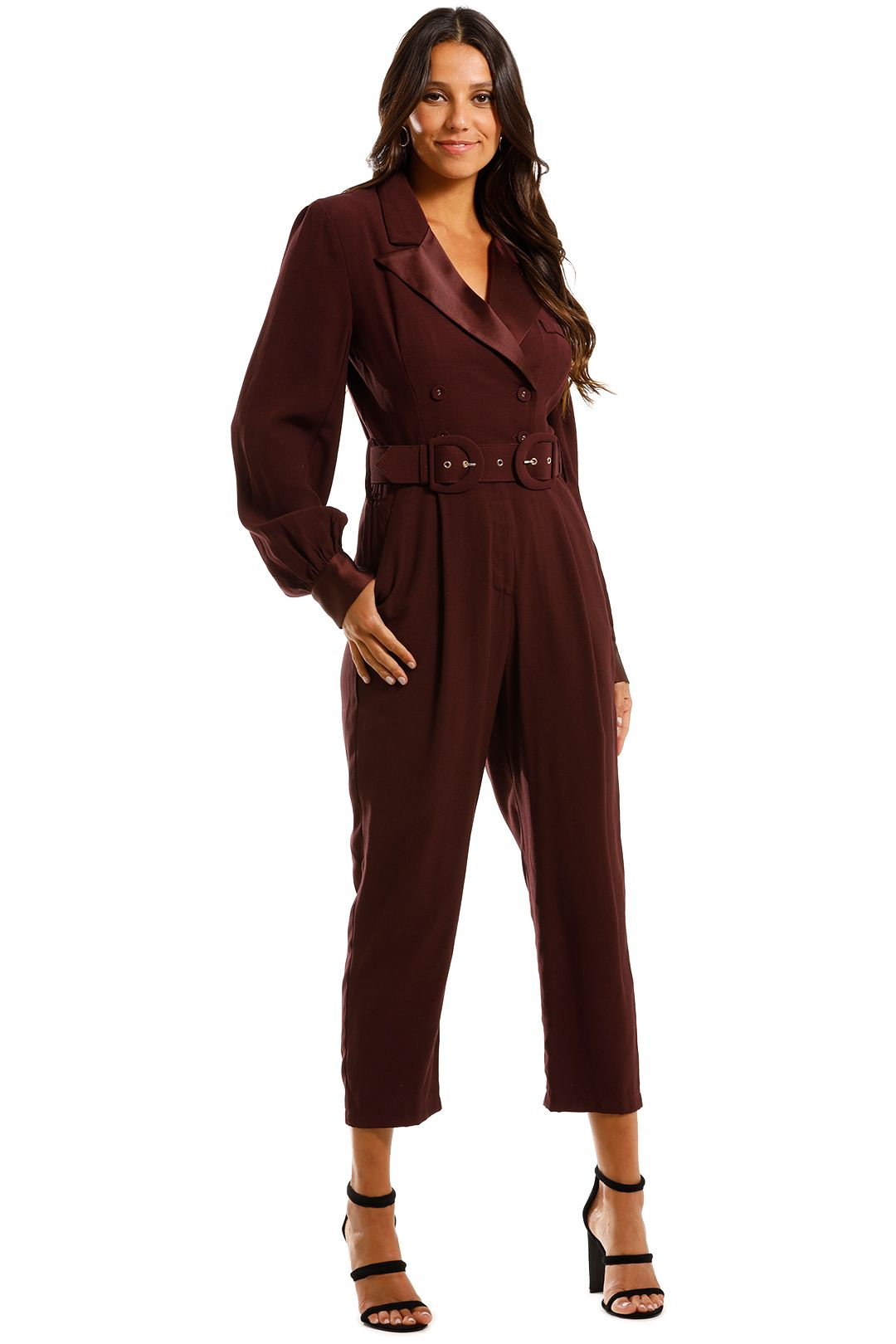 Pasduchas Austere Pantsuit Blackberry Maroon Tailored Burgundy Jumpsuit