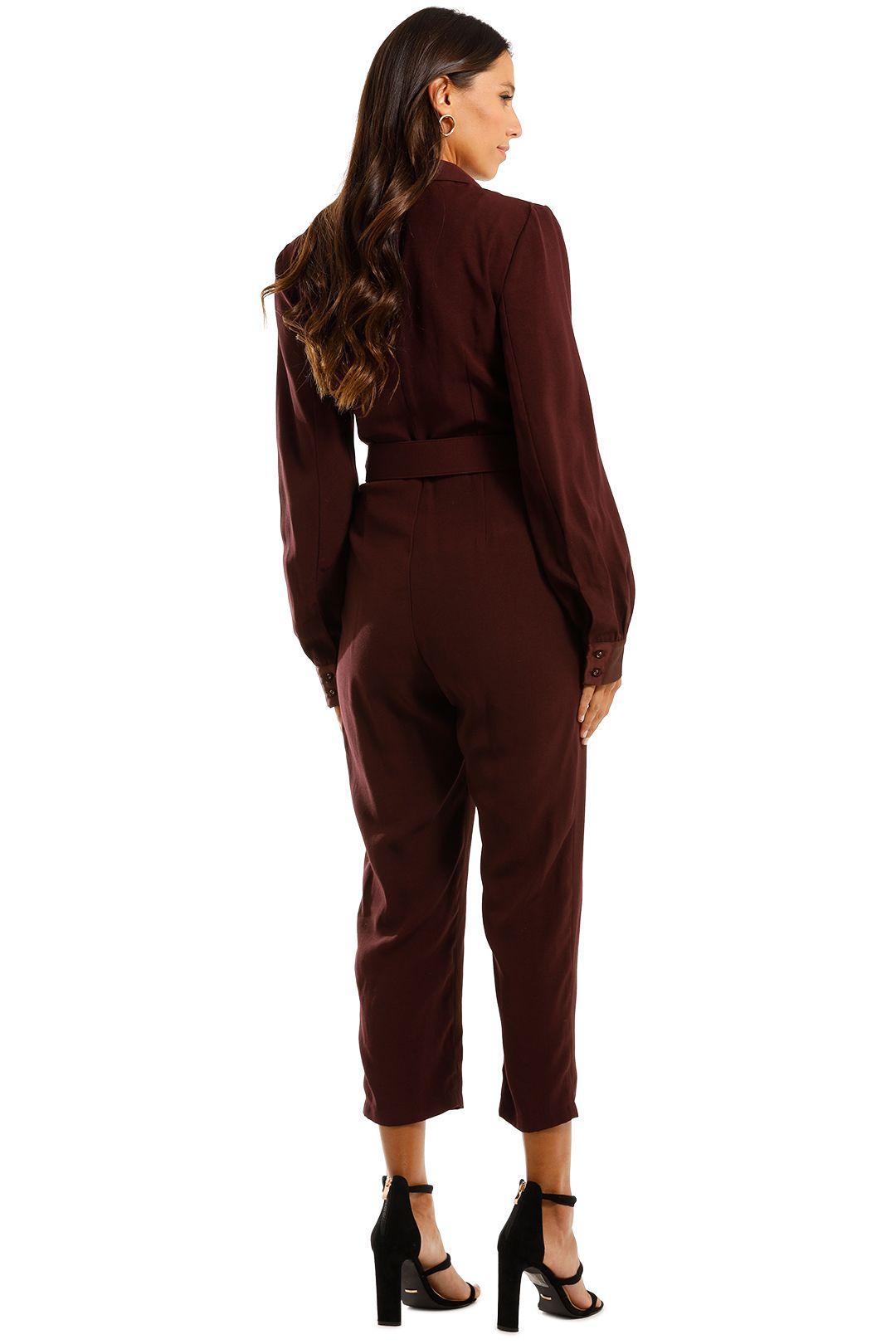 Pasduchas Austere Pantsuit Blackberry Maroon Jumpsuit