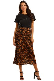 Pasduchas Bronx Skirt Tortoiseshell Midi Length Abstract print