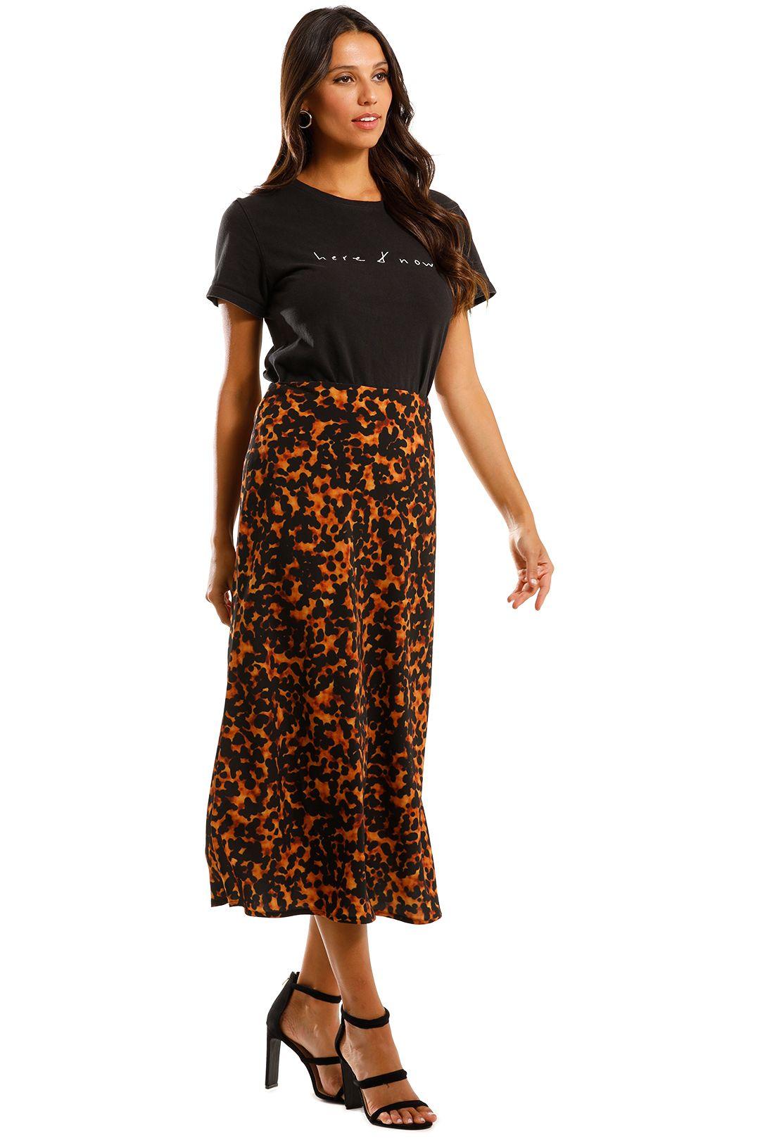 Pasduchas Bronx Skirt Tortoiseshell Midi Length Bias Skirt