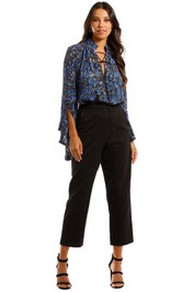 Pasduchas Camille Trouser Black Polka Dot Tapered pants