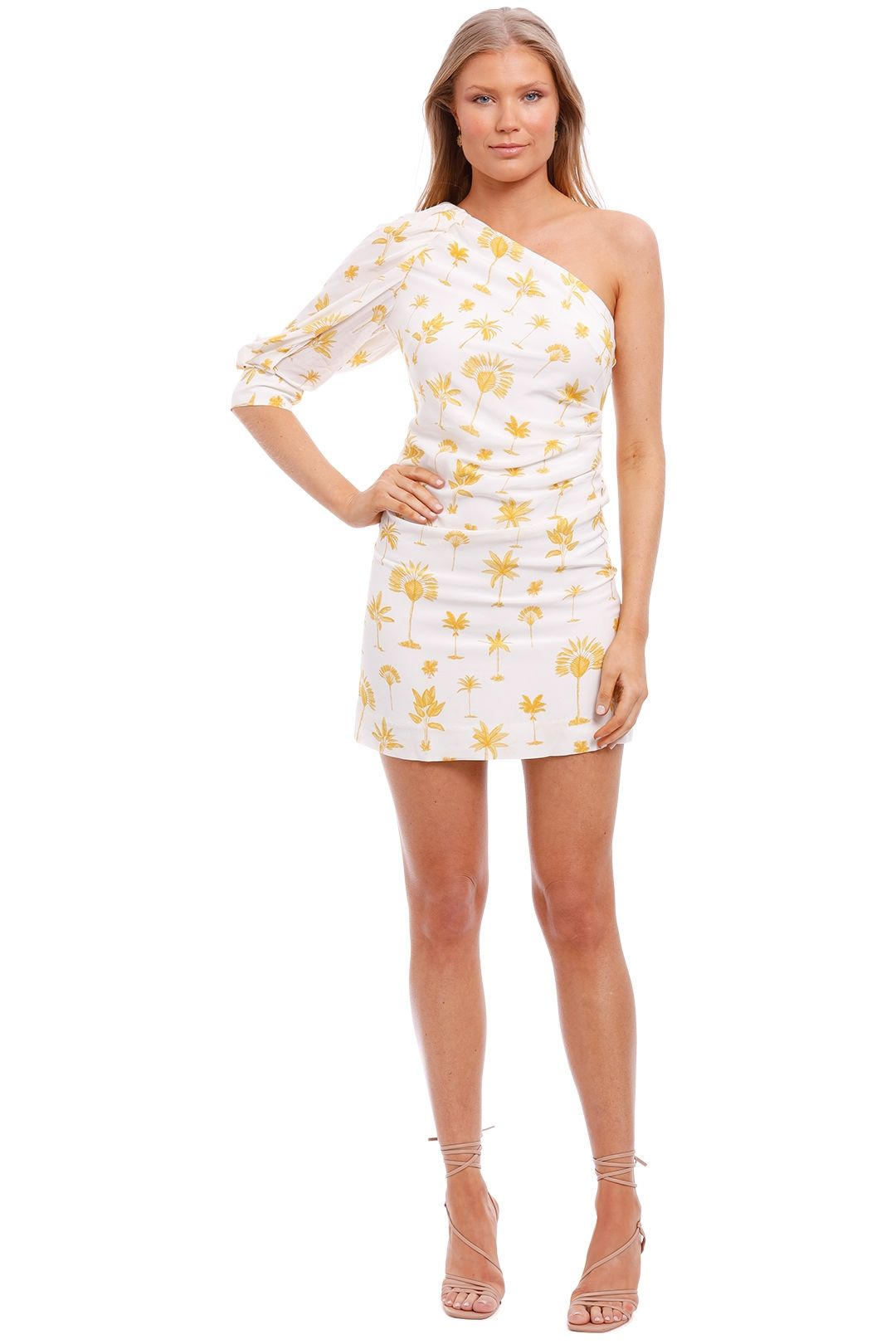 Pasduchas Fiesta Asymmetry Dress Yellow Print