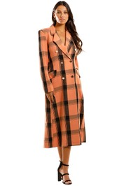 Pasduchas Manhattan Coat Toffee Orange Plaid