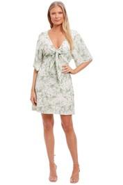 Pasduchas Plantation Sleeve Dress Green Print