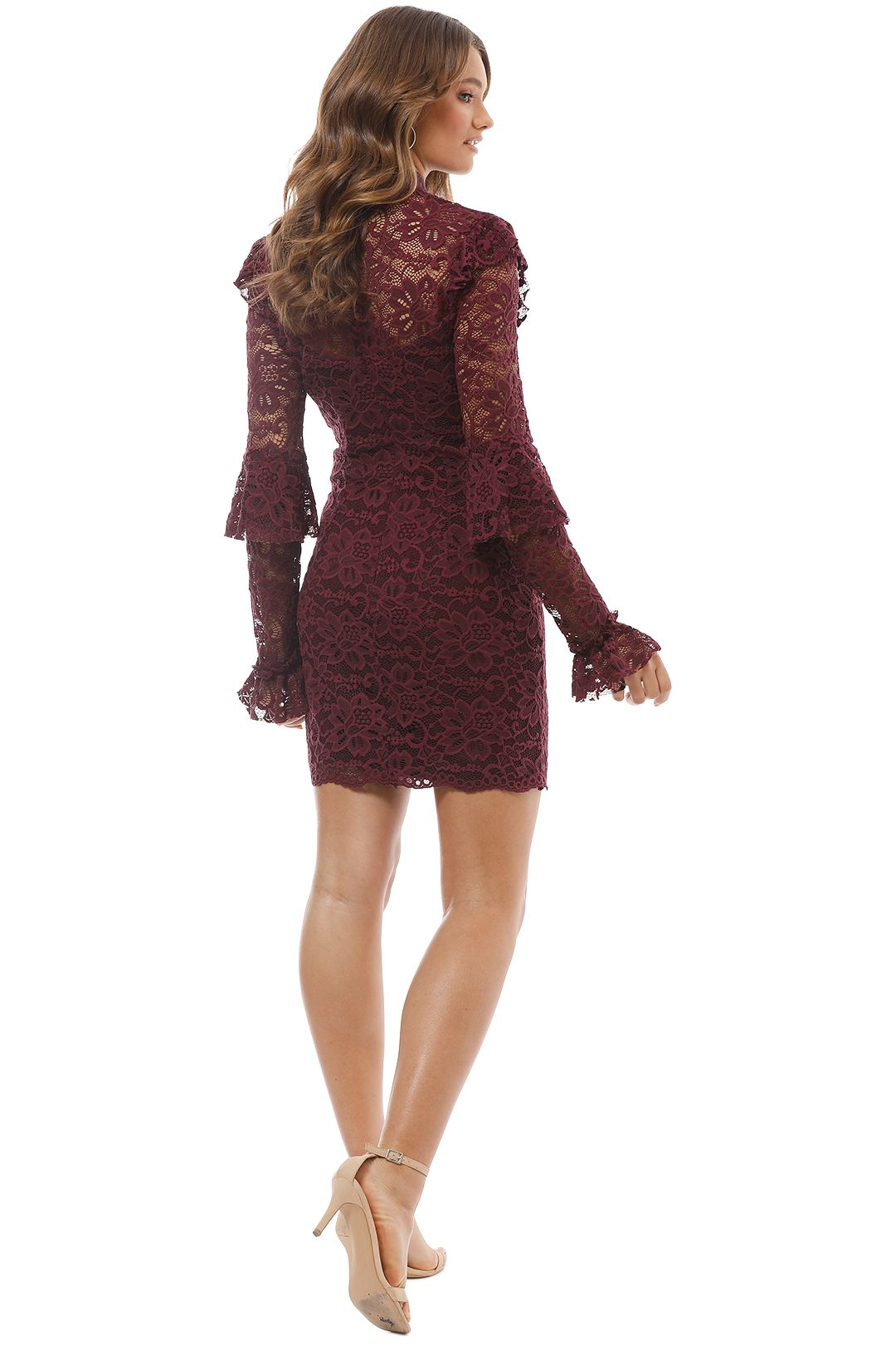 Pasduchas - Winsome Dress - Red Wine - Back