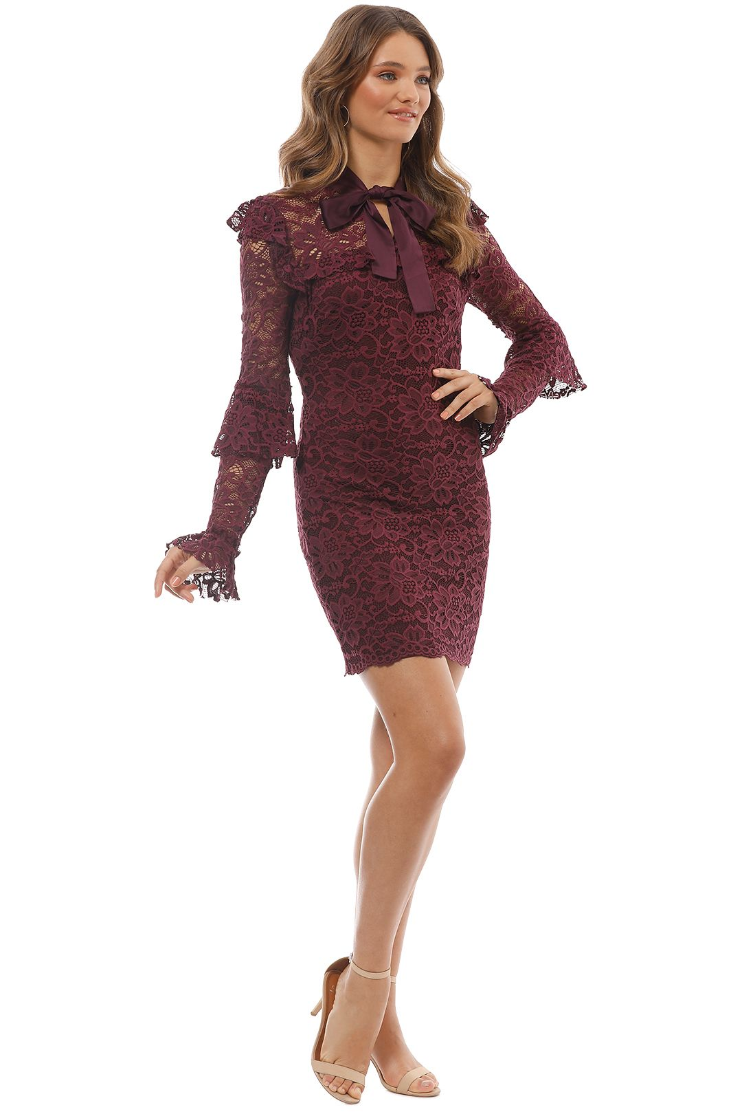 Pasduchas - Winsome Dress - Red Wine - Side