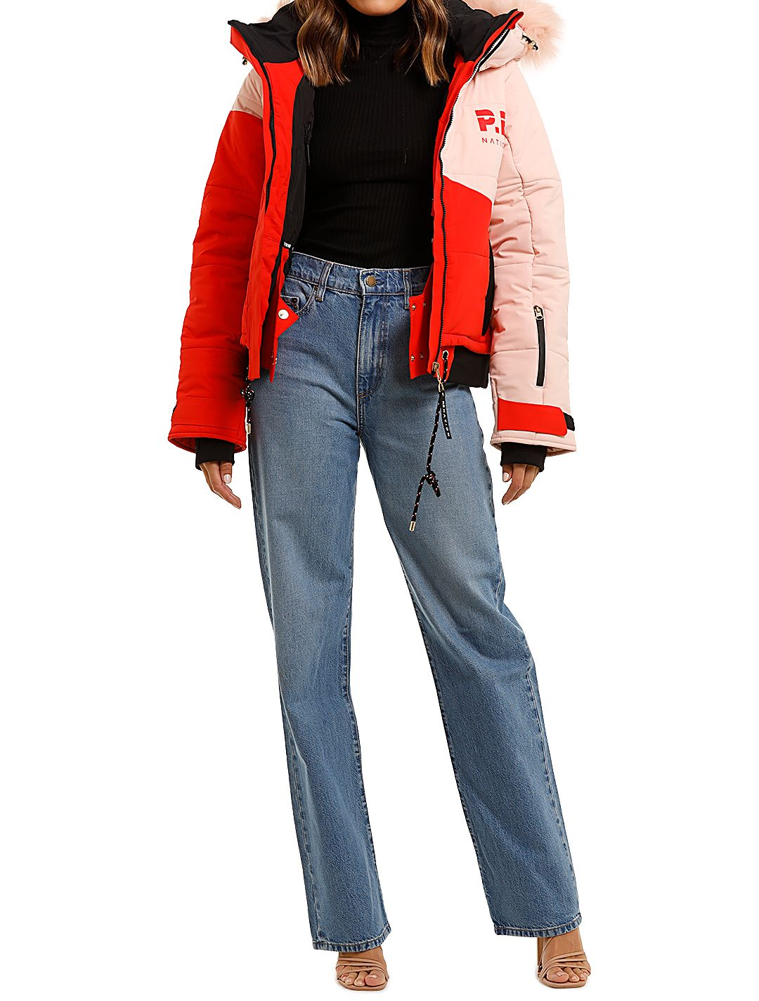 PE Nation Amplitude Ski Jacket Red Pink