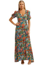 Perseverance London-Elysian Maxi Dress-Multi-Front